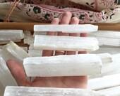 Raw Selenite Sticks, Selenite Wands, Crystal Healing, Selenite Logs, Meditation,  Selenite Specimen, Crystal Wands, Home Decor, Boho Decor