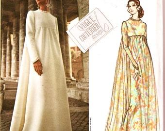 70's Vogue Couturier Design Pattern  2537 w LaBeL FABIANI Elegant Evening Gown Sz 12 Uncut FF Vintage Haute Couture Sewing Patterns Supply