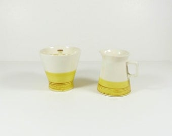 Colortone Sugar Bowl and Creamer Set - Oro