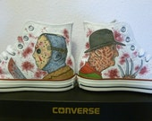 Custom Converse Freddy Vs Jason Handpainted Shoes Cons All Star Size 8.5 UK 42 EUR