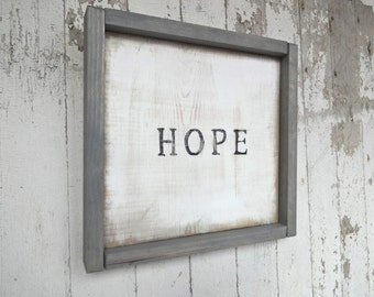 Little hope simple rustic wood sign