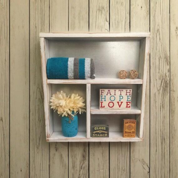 Rustic Bathroom Shelf Wooden Shelves Rustic Home Decor