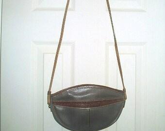 Charles Jourdan, Paris Designer Actif Signature Logo Shoulderbag Handbag Pochette Coated Canvas & Leather Trim Vintage