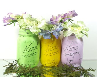 Decorative Mason Jars Spring Decor Rustic Table Easter Decorations Jar