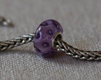 Purple calla bead