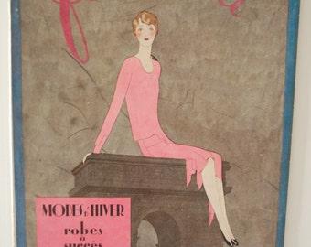 Femina Magazine ~ Marty 1, 1927 ~ Benito Cover ~ Vintage French Fashion