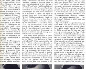 Playboy, Gore Vidal Interview, June 1969