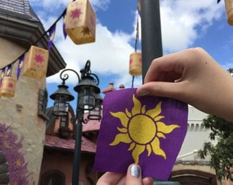 Tangled- inspired Sun screen-printed patch