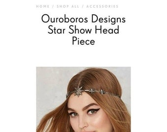 As Seen at NASTY GAL - Star Show Head Piece by Ouroboros Designs