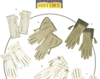 Butterick B5370 Misses' Set of Seven Historical Gloves Making Histort Sewing Pattern
