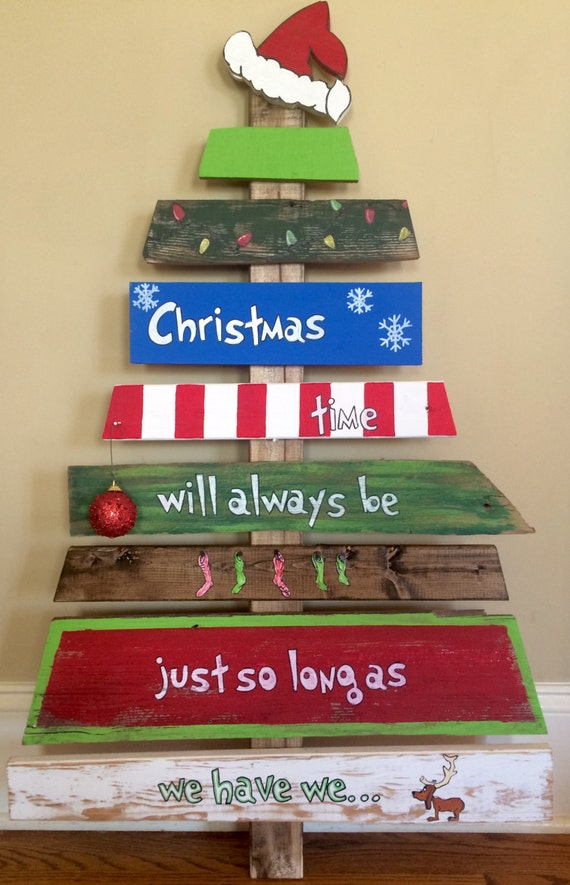 Items similar to hand painted grinch christmas tree