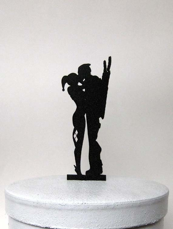 Wedding Cake Topper Harley Quinn Amp Deadpool Silhouette