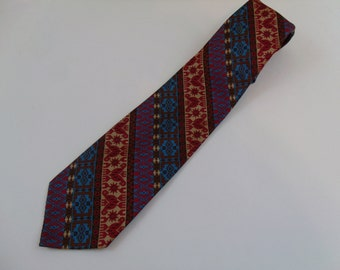 Vintage 60s 70s Deadstock colorful  Tie