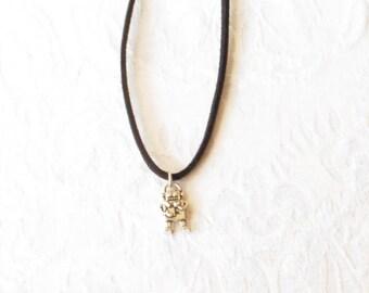 robot Necklace / Black cord necklace  /  2 Styles / boys jewelry / women's jewelry  / girls / men's jewelry / Robot Necklace