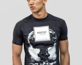 Apathy Pour Homme Anti Fashion Black Graphic Political T-shirt by Allriot