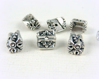 TierraCast - Luna Bead Caps (TC-5622-12) - Antiqued Silver - Qty. 4