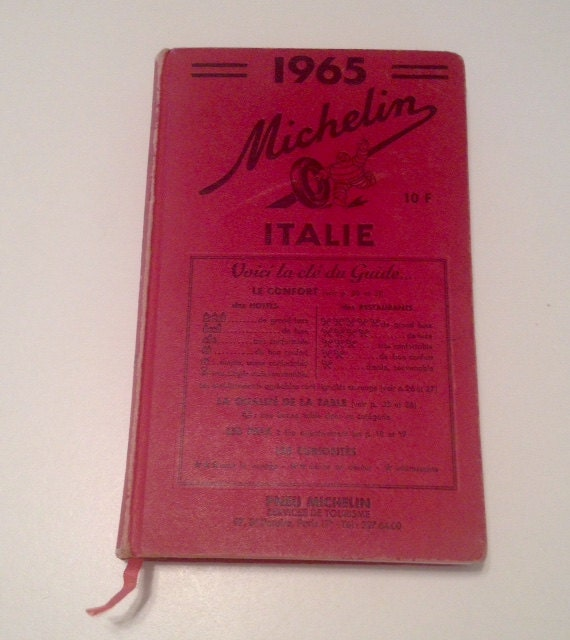 Vintage 1965 Michelin Italy Travel Guide