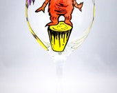 The Lorax Inspired Wine Glass