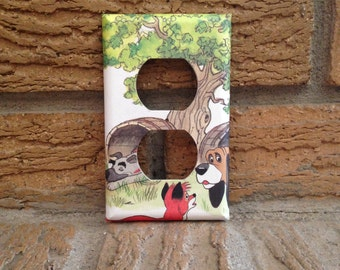 Fox and the Hound Electrical Outlet Cover Plate, Fox and the Hound Decor, Fox and the Hound Decoration, Tod and Copper, Fox and Hound FH1