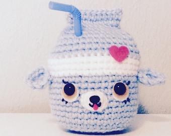SHOPKINS Inspired Milk Bud Kawaii Crochet Amigurumi Soft Sculpture