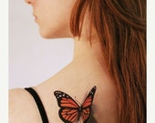 SUMMER SALE 3D Butterfly Temporary Tattoo -  looks like if just landed on you