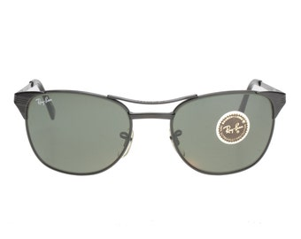 Rayban Bausch & Lomb  made in USA Signet black squared sunglasses new and unworn from deadstock