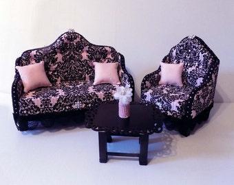American Girl Victorian Doll Living Room Set