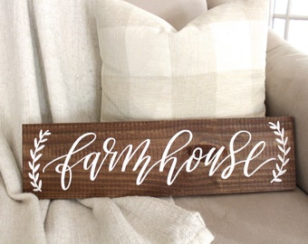 Farmhouse Sign, Rustic Home Decor, Wall Art, Housewarming Gift, Farmhouse Home Decor
