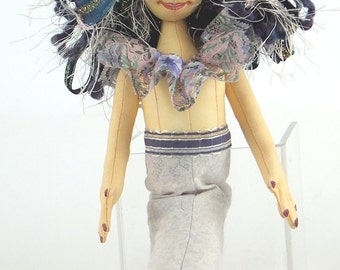 Art Doll-Isola the Mermaid OOAK Cloth Doll