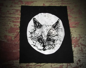 Small Black and White Cat Patch