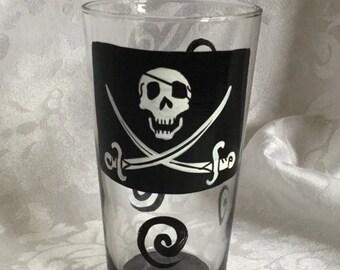Pirate Hand Painted Glass or Mug
