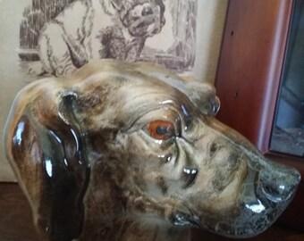 Unmarked Antique Porcelain Dog Head