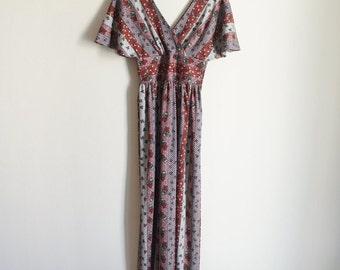 Vintage 70s Dress / Vintage Maxi Dress