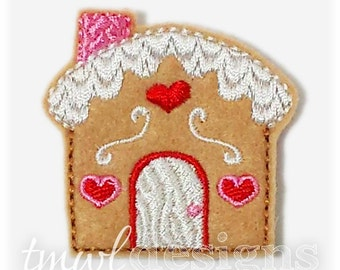 Gingerbread House Feltie Digital Design File - 1.75""