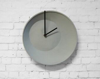 off center clock, wall clock, hanging clock
