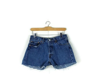 Free shipping!!  Vintage  Levi's 501  Denim Cut off  Shorts from 90's/W28*