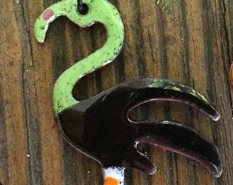 Halloween Flamingo Necklace