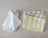 Organic Burp Cloths Set of 4 in Woodland - Gender neutral baby shower gift