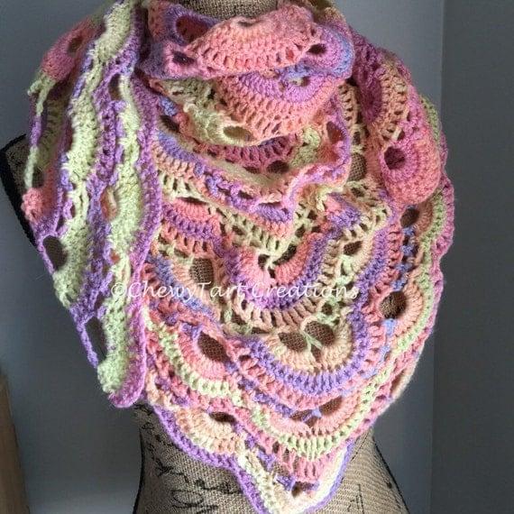 Items similar to Crochet Virus shawl **Ready to ship** on Etsy