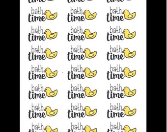 Bath Time Duckies || Stickers for Life Planner