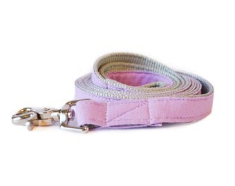 Lavender Linen Dog Leash - Purple Linen Dog Lead for Weddings and Everyday Wear