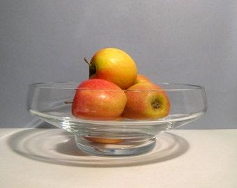 Vintage Crystal Baccarat Larged Footed Serving Bowl Fruit Bowl Centerpiece Modern Look Minimalist