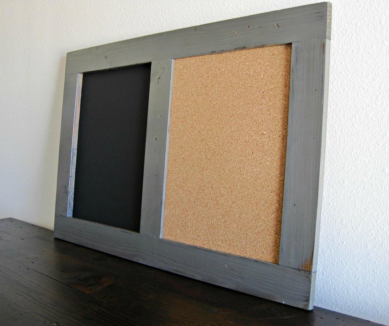 Large Framed Message Board Chalk Board Cork Board Combo