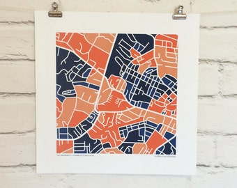 University of Virginia Map Print