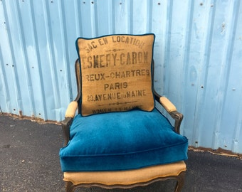 Vintage Accent Arm Chair Organic Chemical-Free Upcycled French Bergere