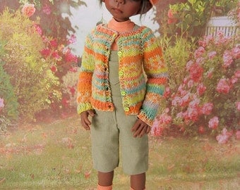 OOAK  dungaree outfit for Kaye Wiggs 46 cm MSD dolls like Maurice, Abby or Missy