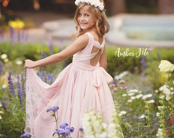 Celia Tiered Couture Gown • Girls Couture Gown • Princess Dress • Flower Girl Dress • Tiered Couture Dress • Layered Couture Gown