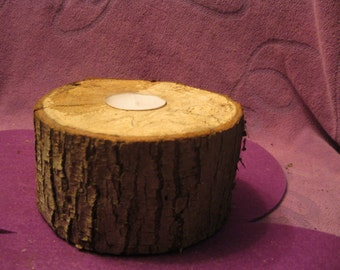 RUSTIC WOODEN CANDLE Holder Maple