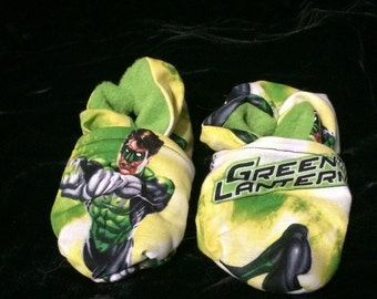 Green Lantern Baby Booties One Size Fits Most 0-18 months