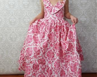 Easter Spring Summer Maxi Dress, Girls Maxi Dress, Toddler Maxi Dress, sizes 2T, 3T, 4T, 5, 6, 7, 8, 10 girls